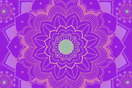 Mandala patterns on purple background illustration