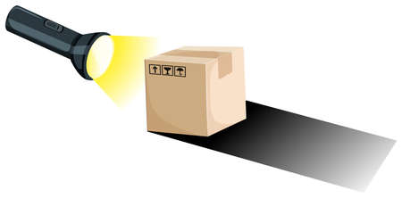 Making shadow with torch and box illustration