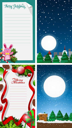 Background templates with christmas theme illustration Illusztráció