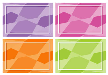Four frame templates with many colors illustration