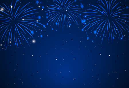 Wallpaper theme of fireworks in dark sky illustration Imagens - 134511609