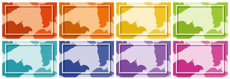 Background templates in many colors illustration Ilustração
