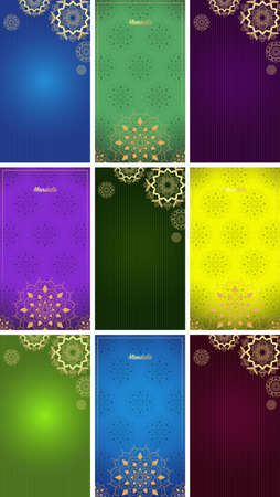 Background template with mandala designs illustration
