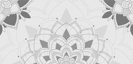 Background pattern of mandala in gray illustration Illusztráció