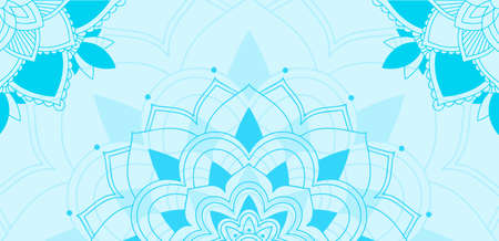 Mandala patterns on blue background illustration