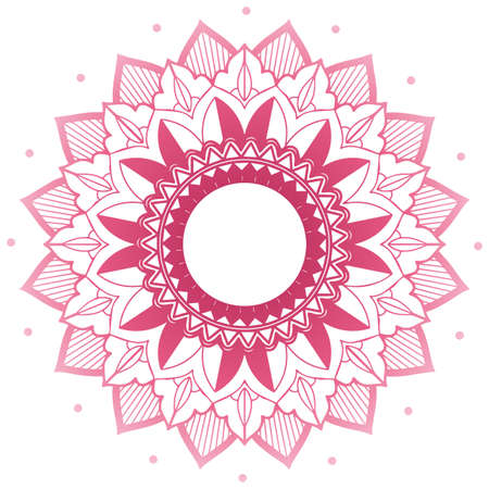 Mandala pattern design in pink illustration