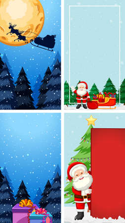 Background templates with christmas theme illustration Illusztráció