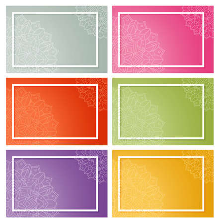 Background templates with mandala patterns illustration