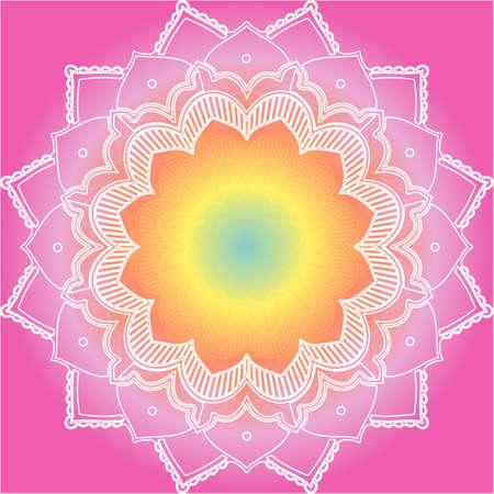 Mandala patterns on pink background illustration Vektoros illusztráció