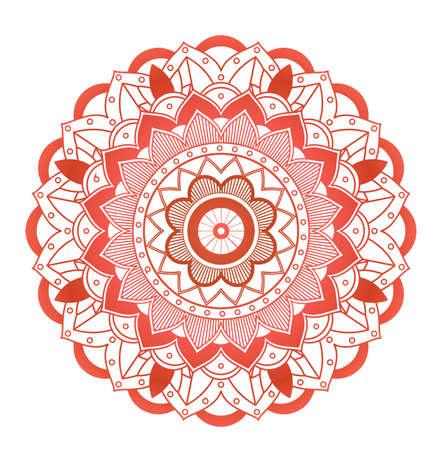 Mandala patterns on white background illustration Vektoros illusztráció