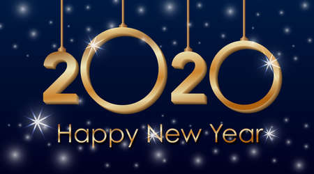 Happy new year background design for 2020 illustration