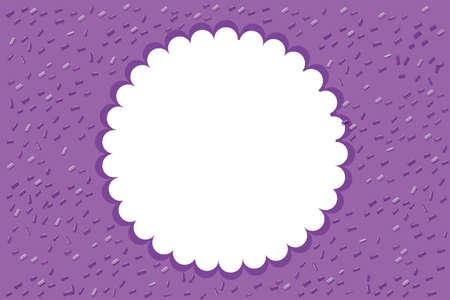 Round frame on purple background illustration