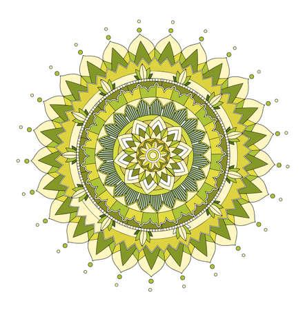 Mandala patterns on isolated background illustration 向量圖像