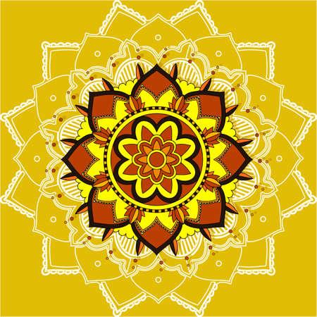 Mandala patterns on yellow
