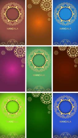 Template with mandala designs illustration