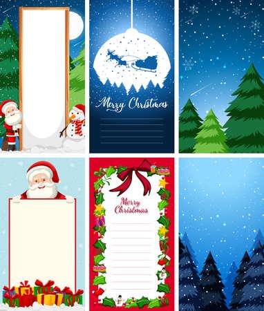 Templates with christmas theme illustration