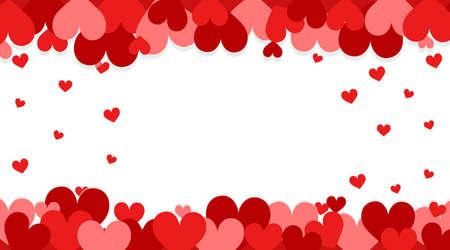 Valentine theme with red hearts Çizim