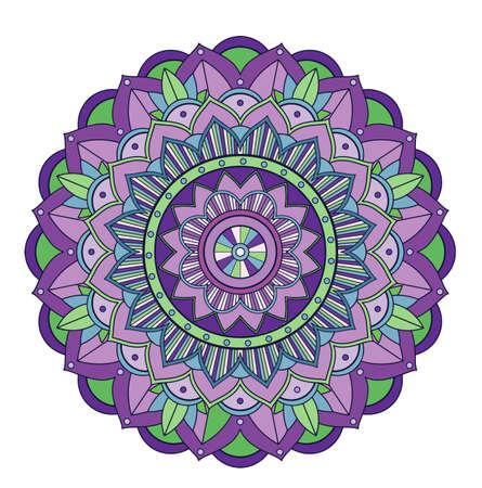 Mandala patterns on isolated Çizim