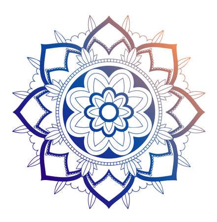 Mandala patterns on isolated  illustration