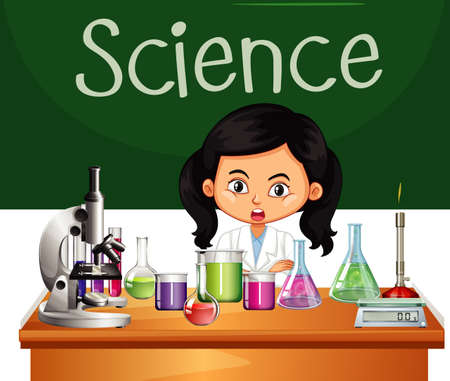 Scientist working in the lab  illustration