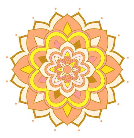 Mandala patterns on isolated background illustration Ilustrace