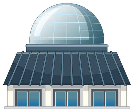Isolated picture of modern building illustration Ilustração