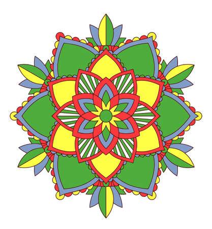 Mandala patterns on white background illustration