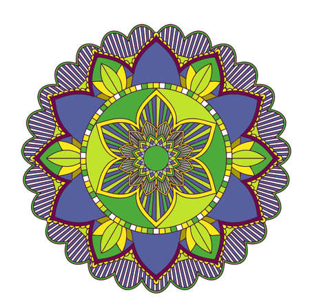 Mandala patterns on isolated background illustration Ilustracja