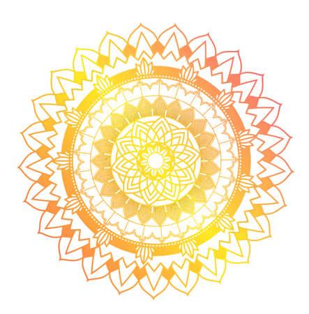 Mandala patterns on isolated background illustration Ilustración de vector
