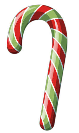 One piece of on candy cane white background illustration