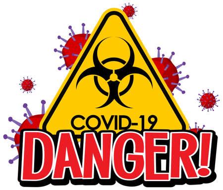 Poster design for coronavirus theme with covid-19 sign illustration Ilustração