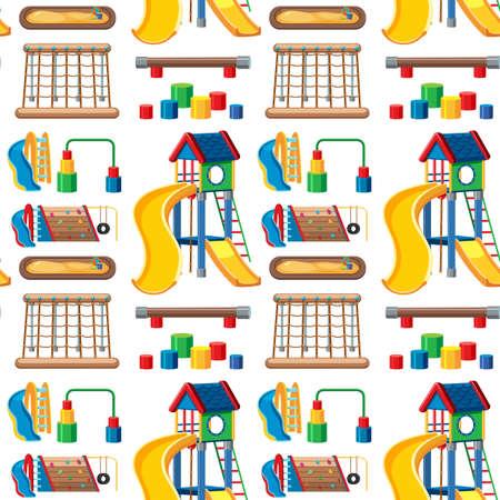 Set of stationary tools and school seamless illustration