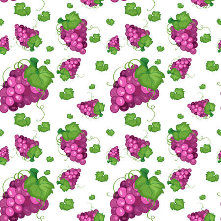 Seamless background design with grapes illustration