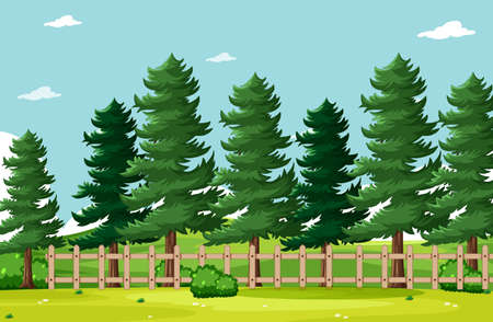 Empty background nature park scenery illustration
