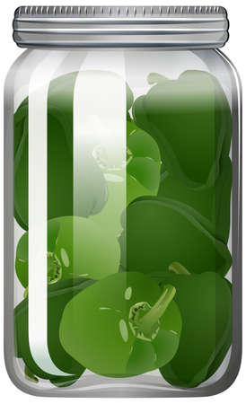Capsicum in the glass jar illustration Vektorgrafik