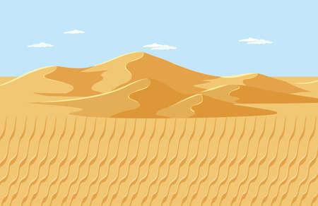 Blank desert landscape scene illustration