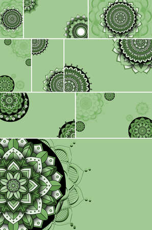 Beautiful mandala design background illustration