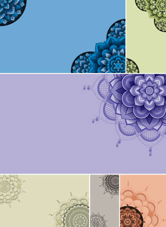 Beautiful colour mandala background illustration