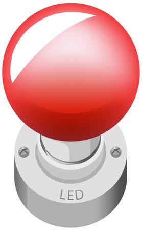 LED object cartoon style isolated on white background illustration
