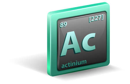 Actinium chemical element. Chemical symbol with atomic number and atomic mass. illustration Stock Illustratie