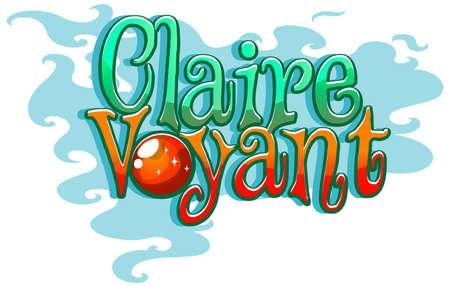 Claire Voyant font design illustration