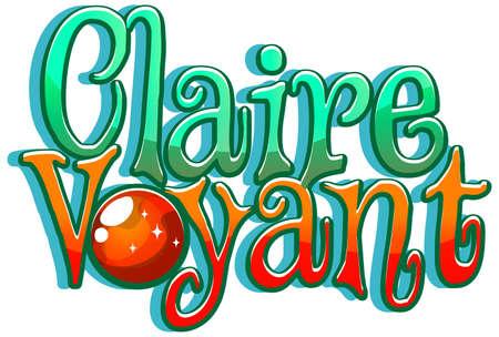 Claire Voyant logo font design illustration