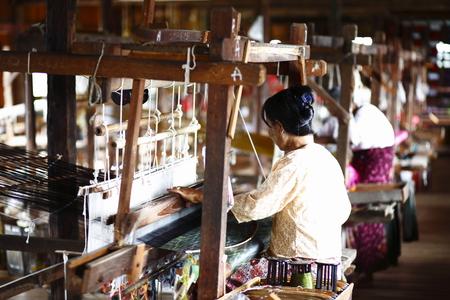 inle: Inle Lake in Myanmar weavers