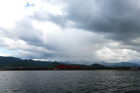 monsoon clouds: Myanmar Inle Lake