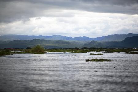 monsoon clouds: Myanmar under a cloud in Inle Lake