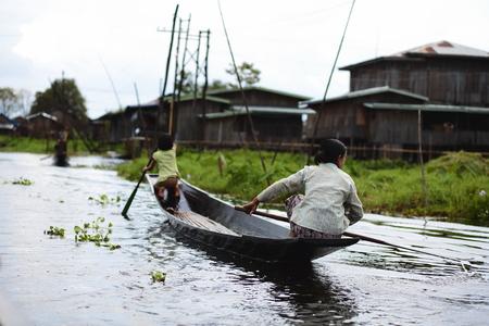 inland waterways: On Inle Lake at Myanmar waters road