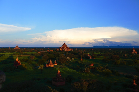 Bagan Burma country Temple under the sunset Stock Photo