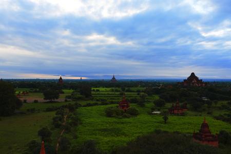 Early morning in the village of Bagan, Burma
