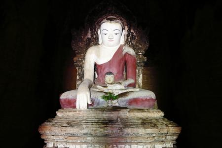 darkroom: Buddha statue in Bagan, Burma Stock Photo