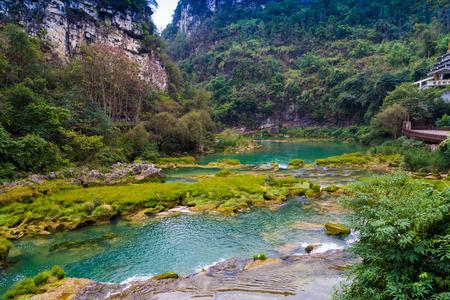 Huangguoshu Waterall scenic area, Guizhou, China Banco de Imagens